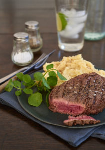 Fillet steak with parsnip mash
