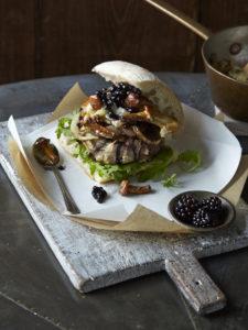 Summer_Gourmet mushroom burger